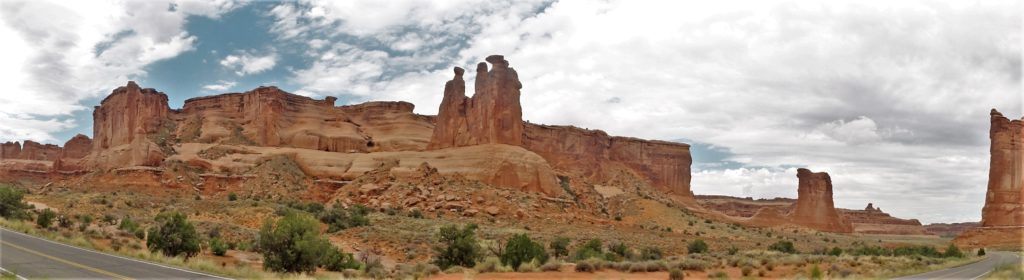 Arches Courthouse Towers pano