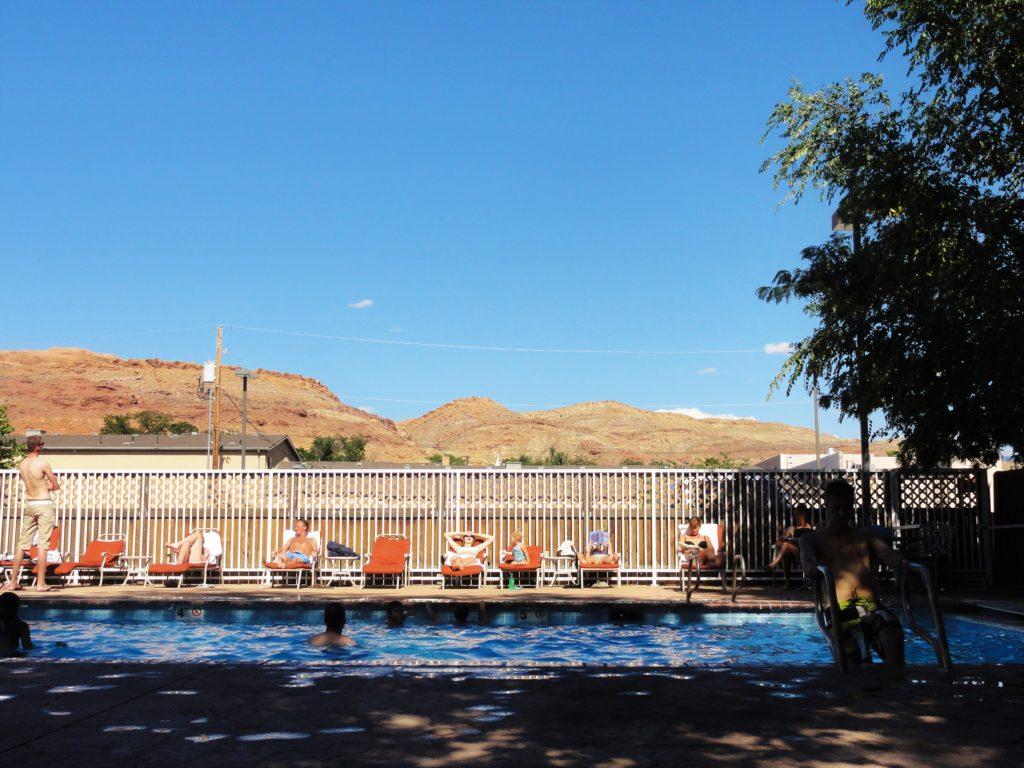 Moab motel piscine