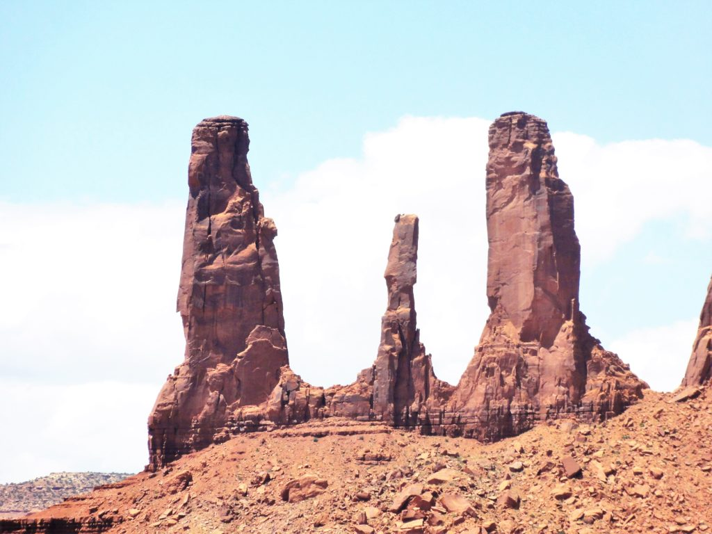 The Three sisters Monument Valley