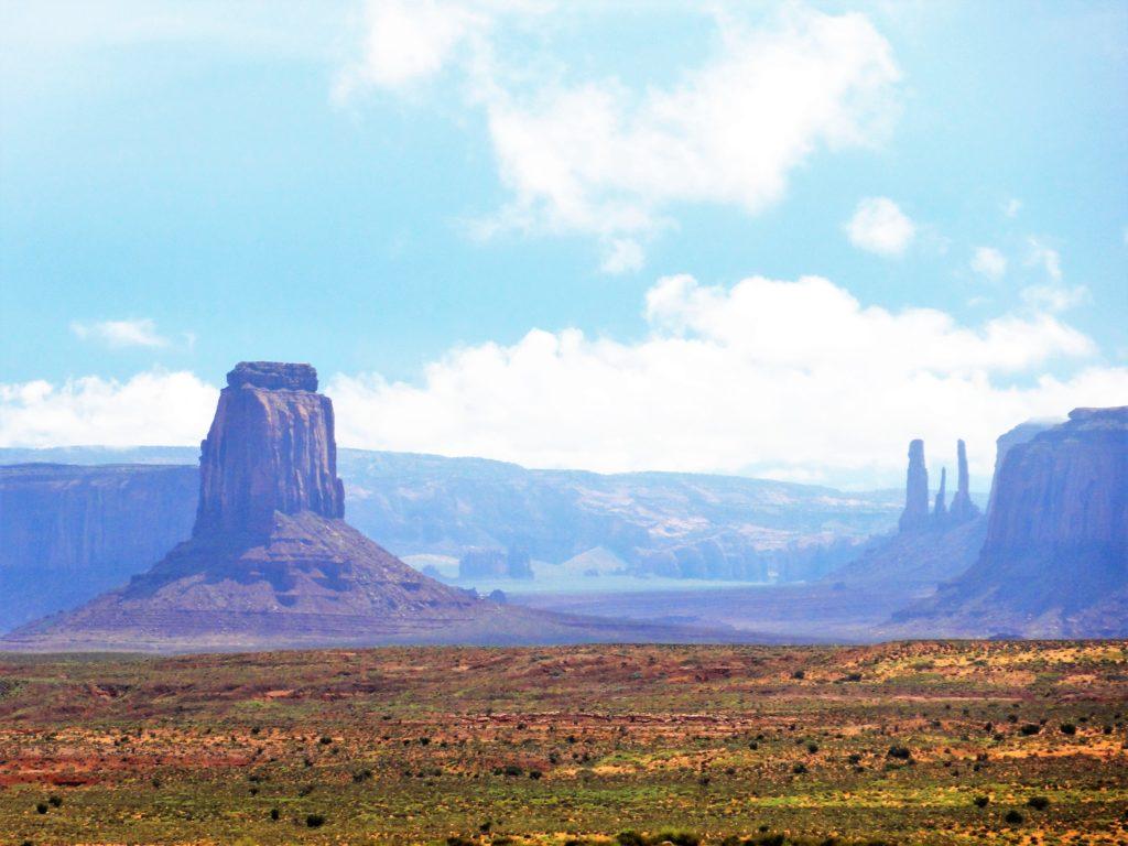vue Monument Valley brume