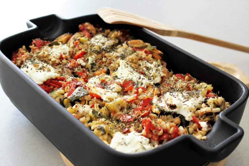 gratin blé fruits de mer légumes 2