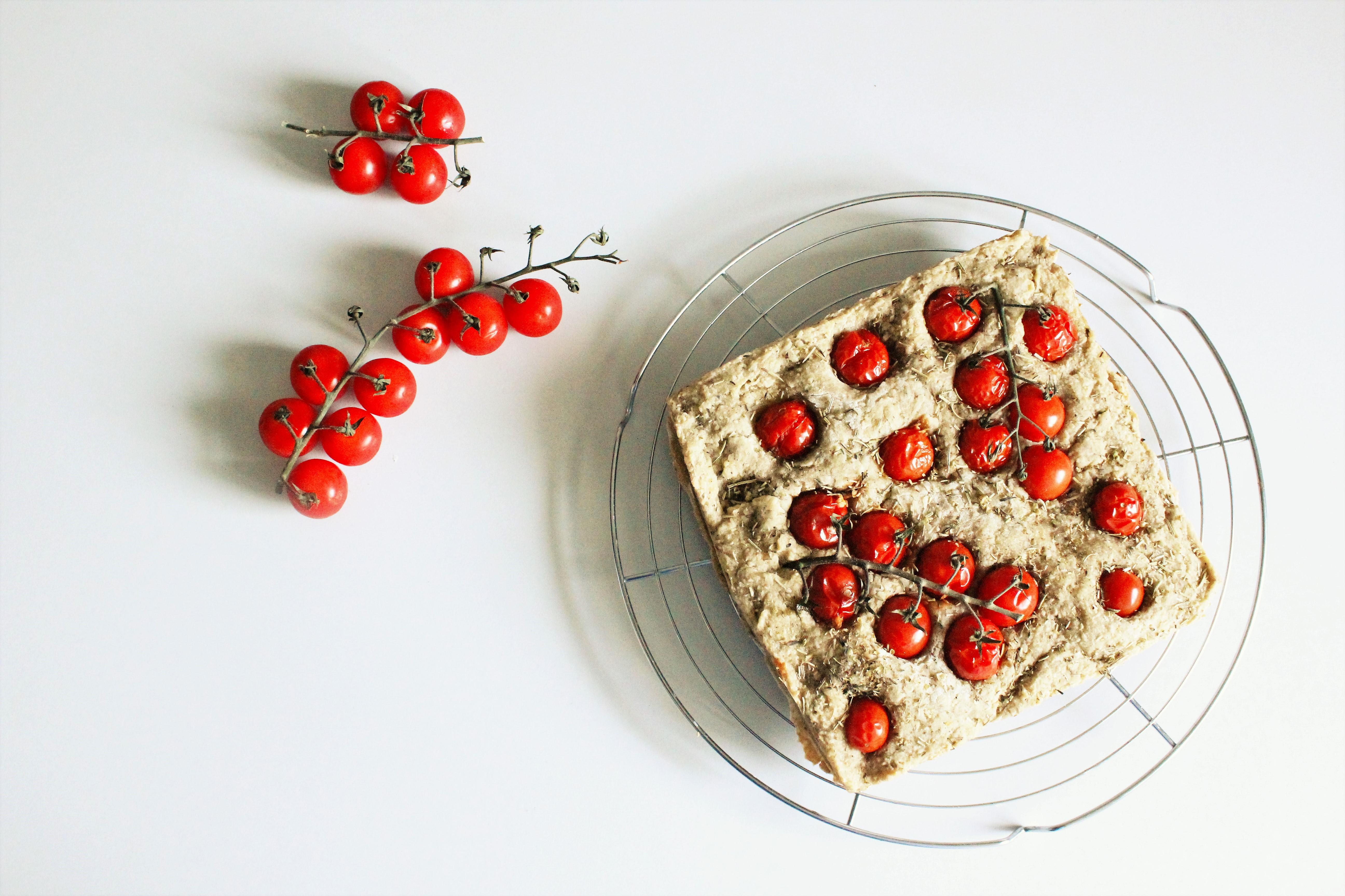 Focaccia tomates cerises
