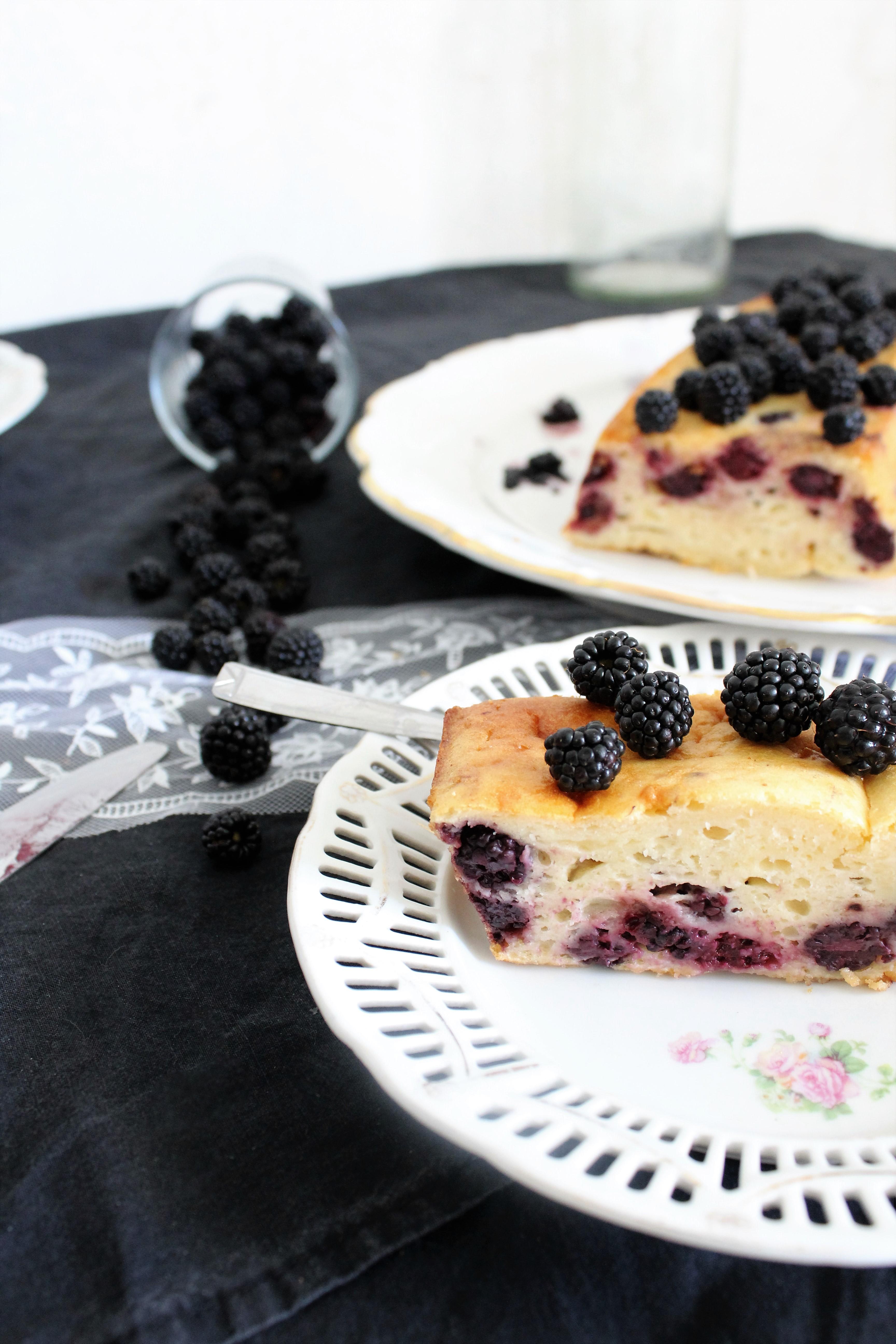 cake mûres violette