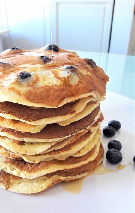 pancakes babeurre et bleuets